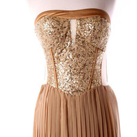 Hollywood Gold Glam Dress by Kute & Kouture Kollections