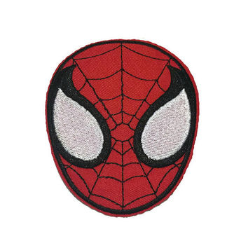 Spiderman Iron On Patch!  Spiderman Embroidered Patch.  Super Hero Iron On Patches!