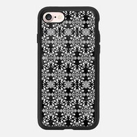 Flower lace_black iPhone 7 Case by Kanika Mathur | Casetify