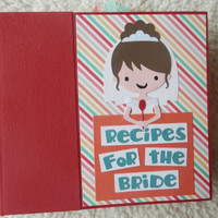 6x6 Wedding Shower Recipe Book Scrapbook Album