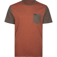 Rvca Change Up Mens Pocket Tee Burgundy  In Sizes