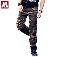New men's Casual loose camouflage pants lard-bucket fashion men's Cotton Cargo pants leisure Man trousers