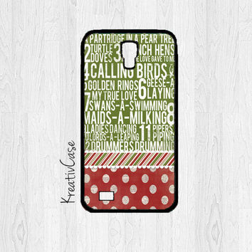 Christmas Samsung Galaxy S4 Case, Galaxy S IV Cases, 12 Days of Christmas Phone Cases - X010