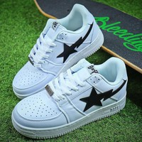 Bape Sta Sneakers White Black Shoes - Sale