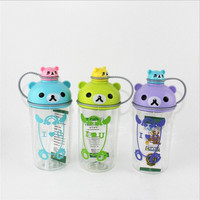 Infant Baby Leak Cup Bottle Baby Water Drinking Bottle With Straw Children Sippy Cups Kids Feeding Cup Bottle