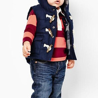 2014 New Boys Thick Hooded Vest Children Outwear Warm Vest Coat : Boys Fashion Blue Jacket Outfit Kids Clothe Winter Baby Wear