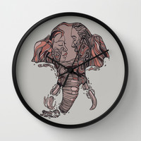 I Forget Where We Were Wall Clock by Huebucket