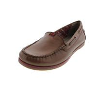 Naturalizer Womens Hanover Leather Loafer Boat Shoes