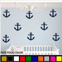 Anchor Vinyl Wall Decal Cluster