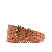 J.Crew Womens Perforated Leather Belt