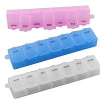 New 7 Days Pill Medicine Box Holder Capsules Case Storage Container Organizers 3 Colors to Choose P1 TIML66