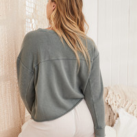 Aerie Inside-Out Beach Fleece , Royal Palm