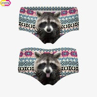 Top Quality New Brand 3D Cats Panties Printing Briefs Fashion Women Underwear Seamless Control Panty Sexy