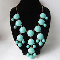 Turquoise bubble necklace,holiday party,bridesmaid gifts,Beaded Jewelry,wedding necklace,turquoise color necklace