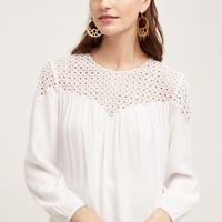 Meadow Rue Ventura Peasant Blouse in White Size:
