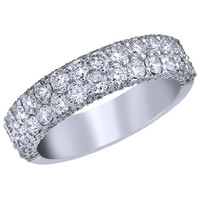 Ben Garelick Royal Celebrations Diamond Ring Featuring Two Rows of Diamonds