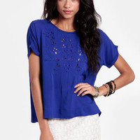 Midnight Air Cutout Top - $37.00 : ThreadSence, Women's Indie & Bohemian Clothing, Dresses, & Accessories