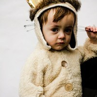 LIMITED EDITION Infant Luxury MAX ( Sizes 6mo-24 mo/2T) where the wild things are in sherpa -crown not included