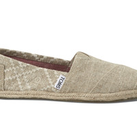 TOMS Hemp Embroidered Women's Classics Natural