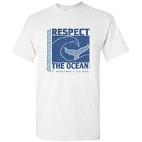 YOUTH RESPECT THE OCEAN T-SHIRT