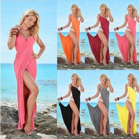 2019 hot style women's clothes in Europe and the sexy bandage dress skirt leisure beachCasual dress