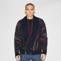 1990s Vintage Coogi Style Hip Hop Cosby Cardigan Sweater