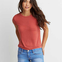 AEO Soft & Sexy Tomgirl T-Shirt, Rust