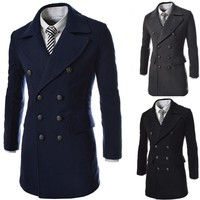 Men Coat Mosaic Double Breasted Jacket [6528920899]