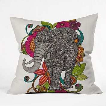 Valentina Ramos Ruby The Elephant Throw Pillow