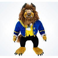 """disney parks beauty and the beast premium large 23"""" beast plush toy new with tag"""