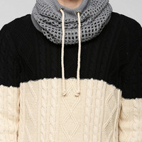 Bickley + Mitchell Knit Mesh Jersey Snood Scarf - Urban Outfitters