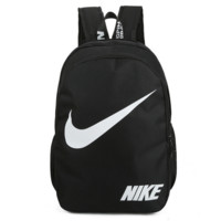 2017 NIKE new shoulder bag female - splashing water leisure outdoor travel backpack simple student bag Black  H-A-MPSJBSC