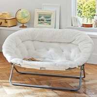 Hang-A-Round Chair, Ivory Sherpa , Double