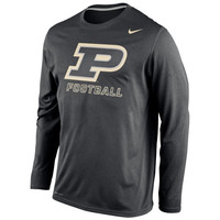 Purdue Boilermakers Nike Legend Practice Long Sleeve Performance T-Shirt - Black