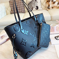 LV Louis Vuitton Tote Bag Shoulder Bag Shopping Bag Two Piece Set