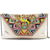 Sorpresa Beaded Crossbody Purse