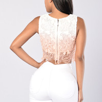 Trickster Top - White/Coral