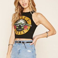 Guns N Roses Graphic Crop Top