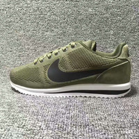 """""""NIKE"""" Cortez Forrest gump Casual Running Sport Shoes Sneakers knit Army green black hook"""