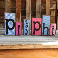 Pi Beta Phi wiiden block set