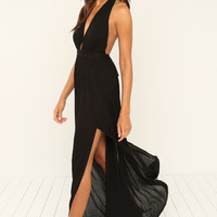 With A Twist Dress - Black