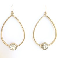 Time To Remember Clear Crystal & Gold Earrings