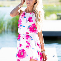 Ray of Light Floral Tank Dress