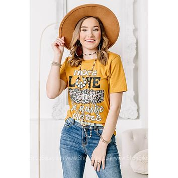 More Love And Turquoise Please Graphic Tee