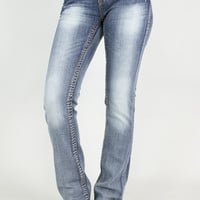 Rhinestone Boot Cut Jeans | Grace in LA
