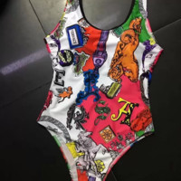Versace Womens One Piece Bikini Set