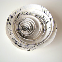 Spiral Paper Roses - Set of 12 from Recycled Sheet Music