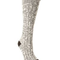 Heathered Color Block Boot Socks by Charlotte Russe