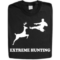 Stabilitees Funny Printed -Extreme Hunting- Mens T Shirts