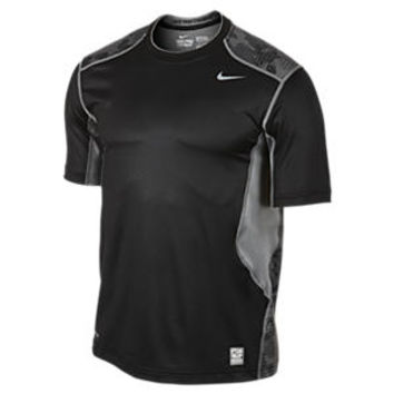 The Nike Pro Combat Hypercool Fitted Grid Camo Men's T-Shirt.